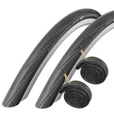 Schwalbe Lugano 700 x 28c Road Bike Tires with Presta Tubes - Black (Pair). 700 x 28c Road Racing tires. Perfect for training, fitness, touring, commuting, racing, Time Trial and Triathlon. Puncture resistant. Enhanced speed / lower rolling resistance due to the new tread compound and profile. Improved safety over cheaper tires due to wider lateral bands for optimal grip at all angles of lean.