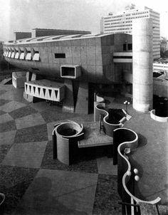 Auditorium Maurice-Ravel Lyon, France; 1972-75 Henry Pottier, Charles Delfante, Jacques Rechsteiner, Bernard Caille