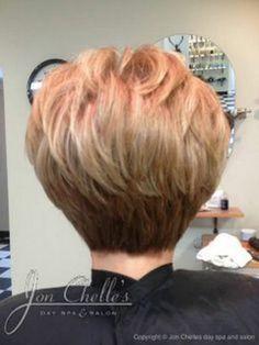 Short Stacked Bob Haircut Back