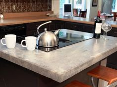 How to make a concrete countertop - DIY Network tutorial with step by step text plus videos