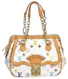 8475ca03a994 Louis Vuitton Limited Edition White Gracie Monogram Mm Handbag Multi-color  Coated Canvas Shoulder Bag
