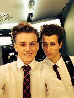 Shirts and ties boys....Tristan Evans & James McVey