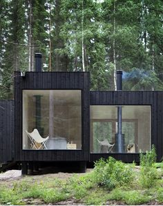 Modern Rustic Forest Cabin