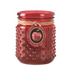 Macintosh Apple Hobnail Scented Jar Candle For Your Home