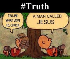 Peppermint Patty and Charlie Brown....God and Jesus