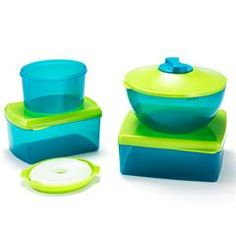 13-Piece Food Cooling Storage Set.  These containers have a pop-in ice pack in the lids!