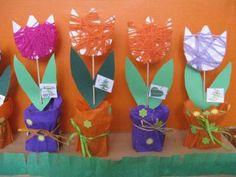 MATEŘSKÁ ŠKOLA SKŘIVÁNEK - Jaro u Pavoučků - Spring Crafts, Spring Flowers, Crafts For Kids, Jar, Preschool, Spring, Craft, Crafts For Toddlers, Kids Arts And Crafts
