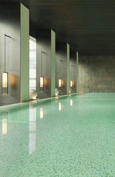 No The PuLi Hotel & Spa, em Xangai, sofisticação e o encontro entre tons metálicos e esverdeados