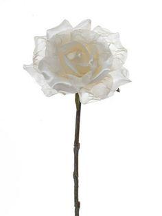 Artificial Vintage Rose Stem
