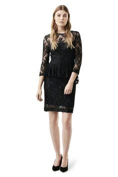 Larkin Lace Dress, Total Eclipse/Black