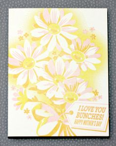 We're giving away this hilarious (if I do say so myself) Love You Bunches card today - perfect for Mother's Day!