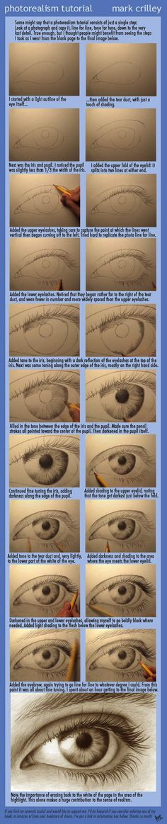 Photorealism Tutorial::how to draw eyes