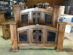 Cowhide Western Furniture Co. | Rustic Western Bedroom | Pinterest ...