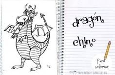 Dibujo de dragon chino