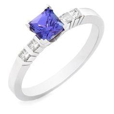 18 carat white gold tanzanite and diamond ring Tanzanite Rings, White Gold, Bling, Engagement Rings, Jewels, Jewellery, Diamond, Enagement Rings, Jewel