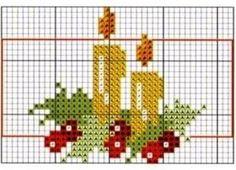Passo a passo de como bordar vários pontos com fita, sianinha, linha Cross Stitch Christmas Cards, Xmas Cross Stitch, Christmas Cross, Cross Stitching, Tiny Cross Stitch, Cross Stitch Designs, Cross Stitch Patterns, Embroidery Applique, Cross Stitch Embroidery