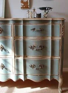 """French Provincial Bedroom Furniture Redo french provincial dresser """"peacock"""" - made to order. $820.00, via"""