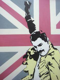 Freddie Mercury Pop Art Painting by lucindaguy on Etsy
