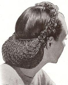 ретро сетка для волос 1940 - Поиск в Google