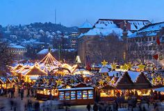 Christmas Market in Stuttgart, Germany First one we ever went to while living in Germany.  There were so many more to come.  Wish we could go back
