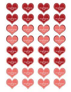 Simply J Studio: valentine heart printable