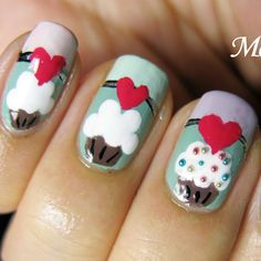 Cupcake Nails by Meliney