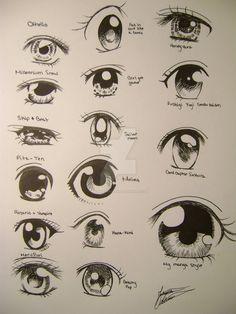 Random anime eyes by on DeviantArt - Random anime eyes by - Anime Drawings Sketches, Anime Sketch, Pencil Drawings, Art Hipster, Hipster Drawings, How To Draw Anime Eyes, Anime Eyes Drawing, Drawing Faces, Chibi Eyes