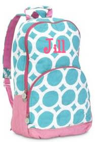 tinytulip.com - Lots O Dots Quilted Backpack Monogrammed, $34.50 (http://www.tinytulip.com/lots-o-dots-quilted-backpack-monogrammed)