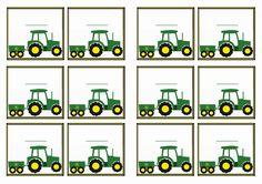 FREE printable John Deer tractor themed Name Tags