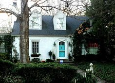 This cute cottage is on one of my favorite streets, Cherry Lane, a hidden little lane off Main St. here in Murfreesboro. Cute Cottage, Cottage Style, House Exteriors, Curb Appeal, Cherry, Mansions, Street, House Styles, Instagram Posts