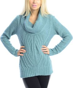 Another great find on #zulily! Teal Texture Cowl Neck Sweater by VICE VERSA #zulilyfinds