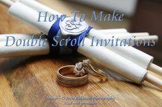 Make your own scroll wedding invitations - DIY