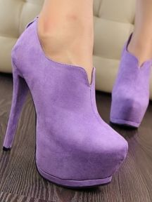 Fashion Simple Suede Stiletto Heels Ultra with Waterproof Platform Sexy Shoes
