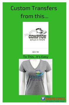 ab720791b Walk-a-thon t-shirts are easy with custom transfers. Choose the layout,  change the text and add some color