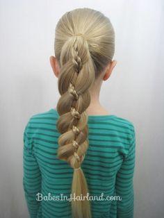 Four Strand Braid with Mirco Braid from Babes in Hairland
