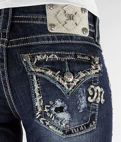 Miss Me Boot Stretch Jean.  I don't like the stretch style, but these are cute.