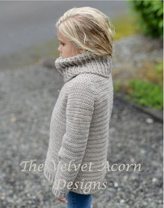 Jersey de ganchillo PATTERN-The Portlynn 12/18 m por Thevelvetacorn
