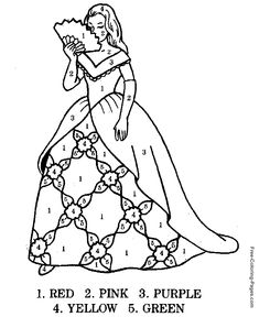 Color By Number Coloring Pages For Kids 331 Color by Number for