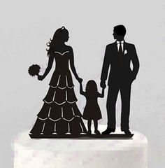 Groom and Bride Sweet Couple with Little Boy Little Girl Family Annivesary Wedding Acrylic Cake Toppers Engagement Party Cake Decoration Wedding Nails For Bride, Bride Nails, Lesbian Wedding, Food Wedding Favors, Bridesmaid Makeup Bag, Trendy Wedding, Wedding Ideas, Diy Wedding, Wedding Card