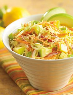 ChiquitaGreen Apple Bites® and our cole slaw are sweet and crunchy partners in this Apple Cole Slaw dish. #coleslaw #freshexpress