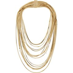 Rosantica Gold-tone faux pearl multi-strand necklace ($1,065) ❤ liked on Polyvore featuring jewelry, necklaces, accessories, gold, gold colored necklace, multi-chain necklace, magnetic jewelry, magnet necklace and fake pearl necklace