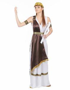 Este disfraz de romana es perfecto para la fiesta de Carnaval.