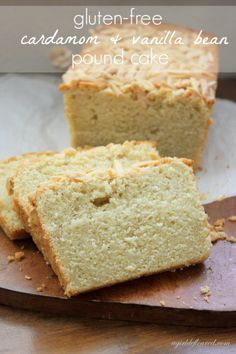 Cardamom Vanilla Pound Cake. Can't wait to try this with some vanilla bean paste and a huge dollop of mascarpone frosting on the side!