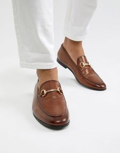 aaa9e4a52a1f Office Italic bar loafers in tan leather