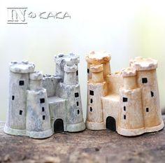 Lovely retro mini Old Castle building home Decor micro fairy garden miniatures sculpture Figures Toys DIY accessories ornaments