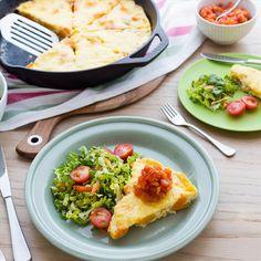 Roast Kumara, Corn and Feta Frittata with Apricot and Tomato Relish