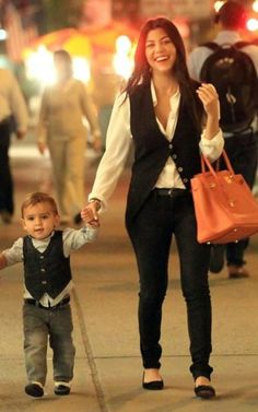 Kourtney Kardashian; I think its so cute when I match with my daughter so I LOVE THIS!