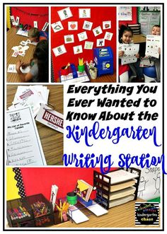 Read this post for some fun writing activities to add to your kindergarten writing station. Ideas include writing lists, using picture cards.