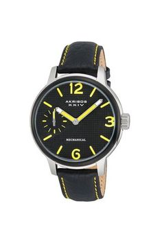 Black and yellow watch