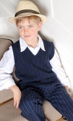 vintage style page boy outfit - trousers Little Linens - Jongensmerkkleding.nl